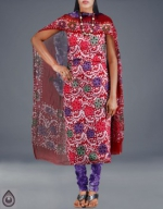 Online Batik Printing Salwar Kameez_206