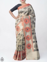 Shop Online for Brown Banarasi Tissue Saree -UNM39100