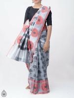 Shop Online for Grey Banarasi Tissue Saree -UNM39099