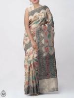 Shop Online for Brown Banarasi Tissue Saree -UNM39098