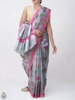 Shop Online for Grey Banarasi Tissue Saree -UNM39097