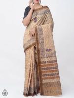 Shop Online Pure Mangalagiri Cotton Checks Saree with Tassels_10